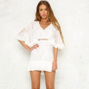 NEW Hello Molly Lottery Dress in white.